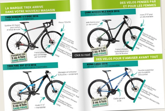 Catalogue NATURA VELO 2016